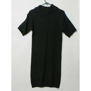 LACOSTE Women's black short sleeve sweater Dress